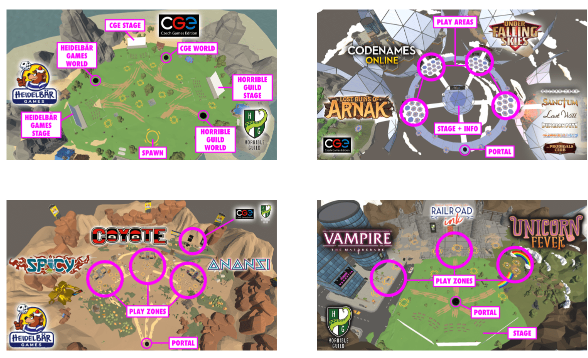 Castle Tricon - Landkarte