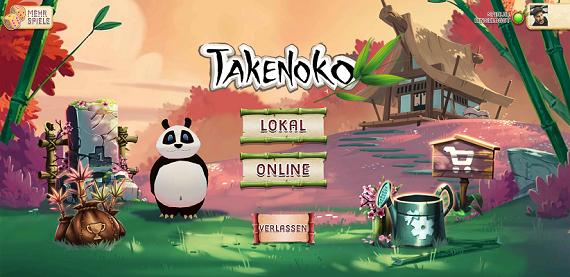 Takenoko App - Introbildschirm