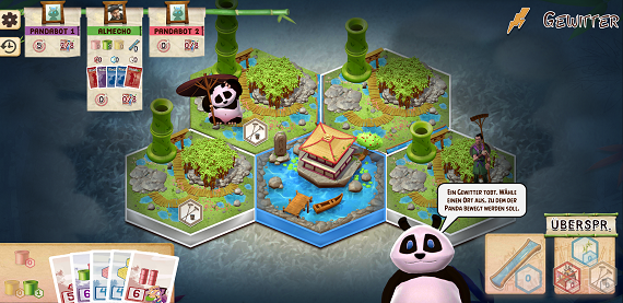Takenoko App- Spielsituation - Gewitter