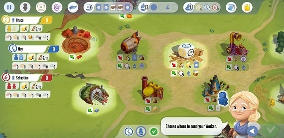 Charterstone Spielsituation