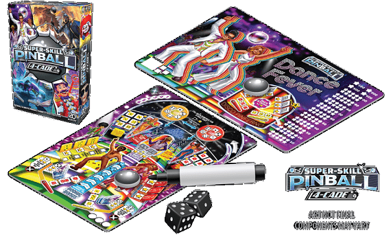Super Skill Pinball 4-Cade - Spielfeld