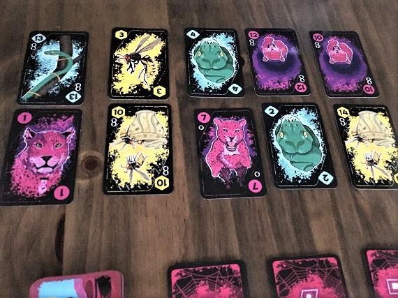 Anansi - Karten drei Spieler