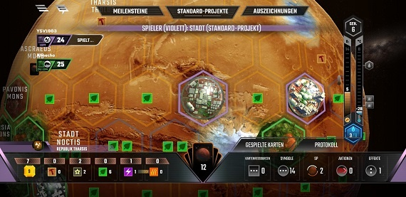 Terraforming Mars App - Hübsche Details im Zoom