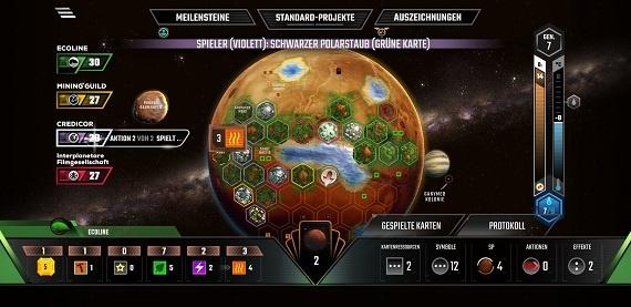 Terraforming Mars App - Während der Partie