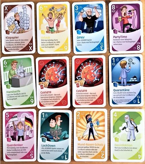Pandemie-Poker-Karten