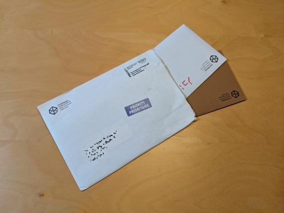 The Escape Mail - Brief mit zwei Umschlägen als Inhalt
